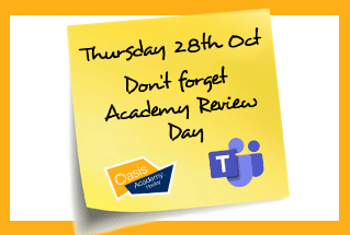 Academic Review Day, Thursday 22nd October 2020