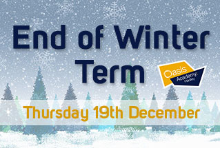 End of Winter Term, Thurs 19th Dec